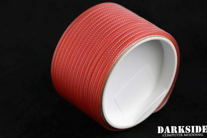 """5/32"""" (4mm) DarkSide HD Cable Sleeving - Opaque Red-2"""