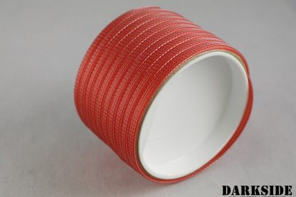"1/4"" ( 6mm ) DarkSide High Density Cable Sleeving - Opaque Red-2"