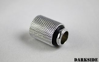 20mm Spacer Adapter - Male-Female G1/4 - Chrome