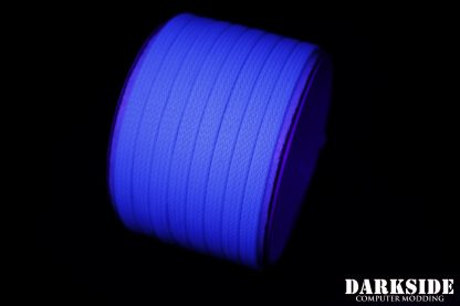 "1/4"" ( 6mm ) DarkSide High Density Cable Sleeving - Aqua Blue UV"