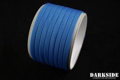 "1/4"" ( 6mm ) DarkSide High Density Cable Sleeving - Aqua Blue UV-2"