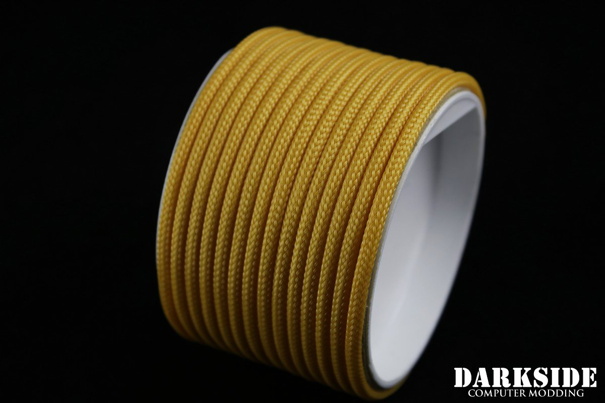 """5/32"""" (4mm) DarkSide HD Cable Sleeving - Gold II"""
