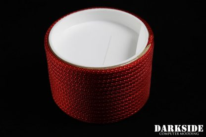 """5/32"""" (4mm) DarkSide HD Cable Sleeving - Metallic Red"""