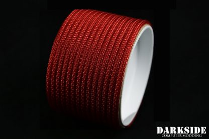"""5/32"""" (4mm) DarkSide HD Cable Sleeving - Metallic Red-2"""