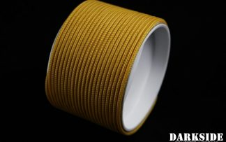 """5/64"""" ( 2mm ) DarkSide HD Cable Sleeving - Gold II"""