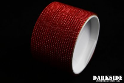 "5/64"" ( 2mm ) DarkSide HD Cable Sleeving - Metallic Red-2"