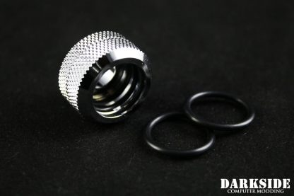 Hard Tube Straight Fitting 16mm - Chrome