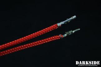 12' (30cm) Male-Female Pre-Sleeved ATX and  PCI-E Wire - Red UV