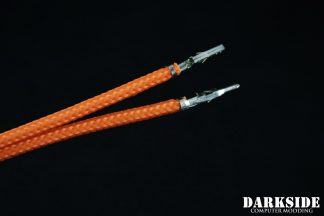 12' (30cm) Male-Female Pre-Sleeved ATX and  PCI-E Wire - Orange