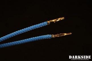 12' (30cm) Male-Female Pre-Sleeved ATX and  PCI-E Wire - Aqua Blue UV