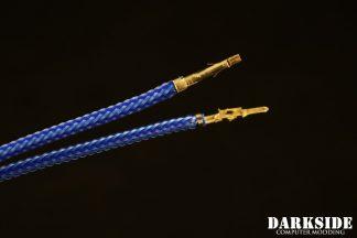 12' (30cm) Male-Female Pre-Sleeved ATX and  PCI-E Wire - Sky Blue UV