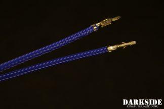 12' (30cm) Male-Female Pre-Sleeved ATX and  PCI-E Wire - Dark Blue UV