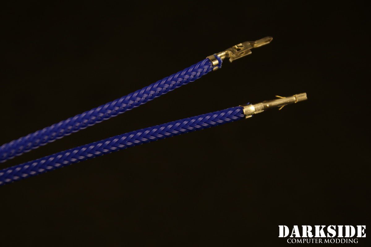12' (30cm) Male-Female Pre-Sleeved ATX and  PCI-E Wire - Dark Blue UV