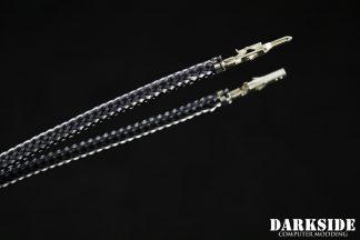 12' (30cm) Male-Female Pre-Sleeved ATX and  PCI-E Wire - Graphite Metallic