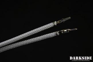 12' (30cm) Male-Female Pre-Sleeved ATX and  PCI-E Wire - Titanium Gray