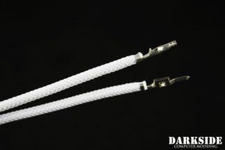 12' (30cm) Male-Female Pre-Sleeved ATX and  PCI-E Wire -White