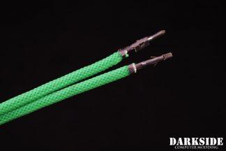 12' (30cm) Male-Female Pre-Sleeved ATX and  PCI-E Wire - Dark Green UV