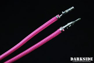 12' (30cm) Male-Female Pre-Sleeved ATX and  PCI-E Wire - Hot Pink