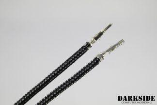 12' (30cm) Male-Female Pre-Sleeved ATX and  PCI-E Wire - Black