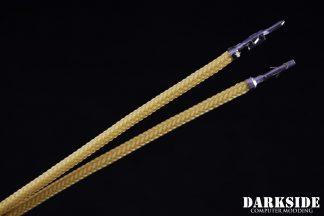12' (30cm) Male-Female Pre-Sleeved ATX and  PCI-E Wire - Gold