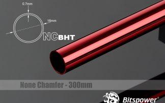 None Chamfer BrassHard Tubing OD16MM Deep Red - 300mm