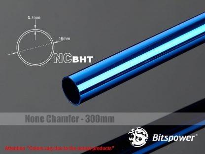 None Chamfer BrassHard Tubing OD16MM Royal Blue - 300mm