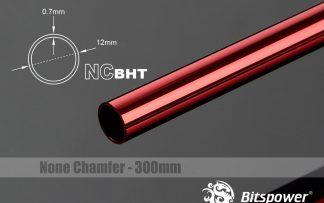 None Chamfer BrassHard Tubing OD12MM Deep Red - 300mm