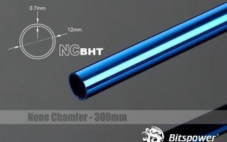 None Chamfer BrassHard Tubing OD12MM Royal Blue- 300mm