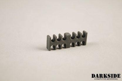 12-pin Cable Management Holder Comb - Gun Metal