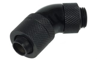 13/10 compression fitting 45° revolvable G1/4 - Deep Black
