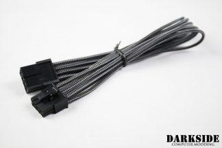 8-Pin PCI-E DarkSide HSL Single Braid M-F Cable -Graphite Metallic
