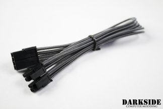 "4+4 EPS 12"" (30cm) HSL DarkSide Single Braid M-F Cable - Graphite Metallic"