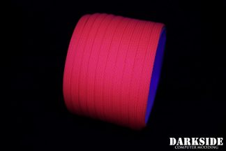 """1/4"""" ( 6mm ) DarkSide High Density Cable Sleeving - Coral (UV)"""