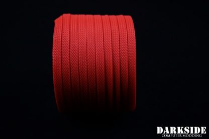 """1/4"""" ( 6mm ) DarkSide High Density Cable Sleeving - Coral (UV)-2"""