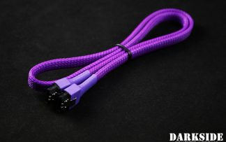 "60cm (24"") SATA 2.0/3.0 7P 180° to 180° cable with latch  - Purple UV"