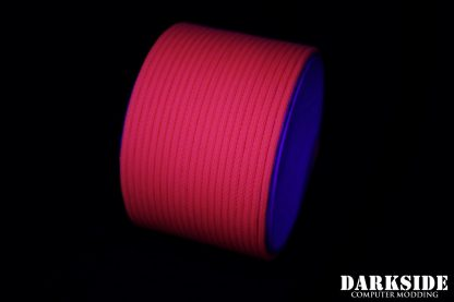 """5/32"""" ( 4mm ) DarkSide HD Cable Sleeving - Coral (UV)-3"""