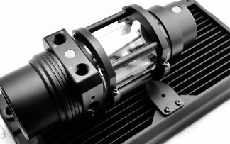 Protium D5 Pump Cover Black with Silver Rings