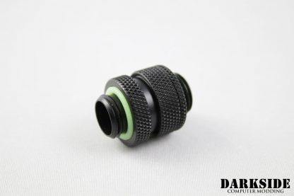 "Dual G1/4"" Adjustable Length Fitting (16-22mm) - Black"