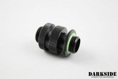 "Dual G1/4"" Adjustable Length Fitting (16-22mm) - Black-2"