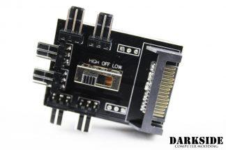 6-Way Fan Power Distribution Hub SATA to 3-pin with Switch