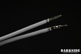 17.5' (45cm) Male-Female Pre-Sleeved ATX and  PCI-E Wire - Titanium Gray