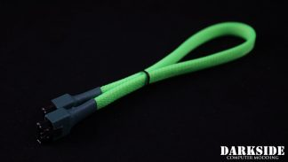 """30cm (12"""") SATA 2.0/3.0 7P 180° to 180° cable with latch  - Green UV"""