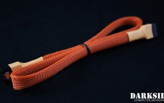 "45cm (18"") SATA 2.0/3.0 7P 180° to 180° cable with latch  - Orange"