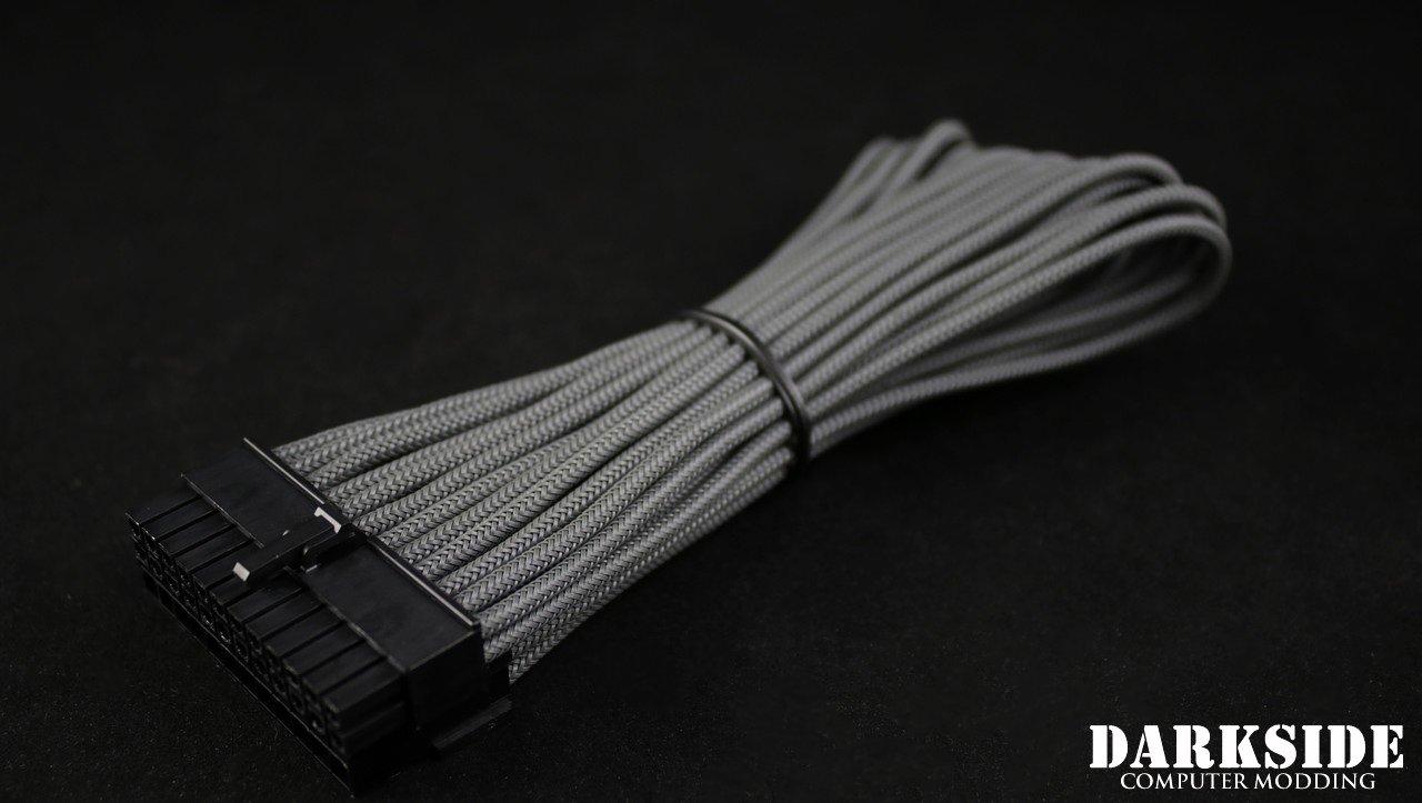 "24-Pin ATX HSL 12"" (30cm) DarkSide HSL Single Braid MF Cable - Gun Metal"