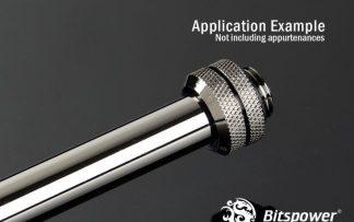 Bitspower None Chamfer Brass Hard Tubing OD12MM Black Sparkle- Length 300 MM