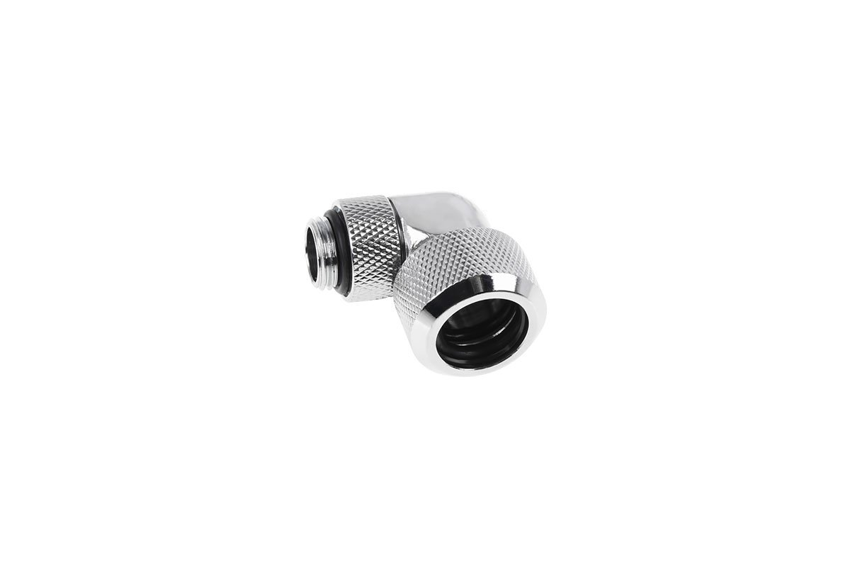 Alphacool Eiszapfen 16mm HardTube compression fitting 90° rotatable G1/4 for hard  tubes -chrome